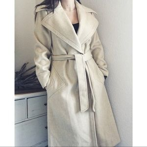 Vintage Long Wool Coat with Belt YouthCraft